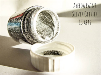 Happymade - 13arts - Glitter Paint - Silver Glitter (22ml).