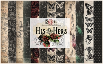 "Happymade - 13arts - Design Papers - His and Hers - 12x12"" (pakn. m/6ark)"