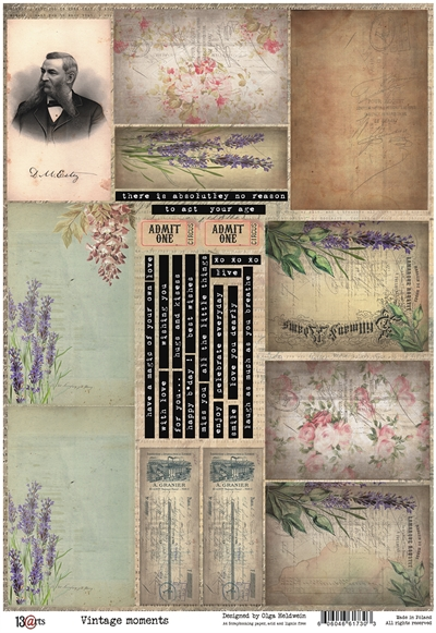 Happymade - 13arts - Design Paper elements - Vintage Moments - A4