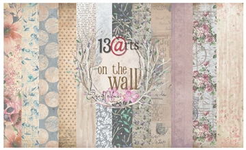 "Happymade - 13arts - Design Papers - On The Wall - 12x12"" (pakn. m/6ark)"