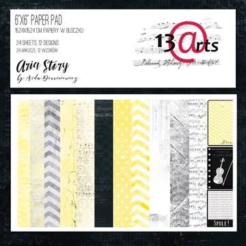"Happymade - 13arts - Design Papers - Aria Story - 6x6"" (pakn. m/24 ark)"