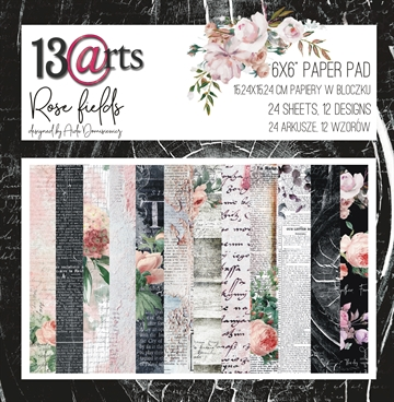 "Happymade - 13arts - Design Papers - Rose Fields - 6x6"" (pakn. m/24 ark)"