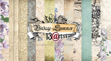 "Happymade - 13arts - Design Papers - Vintage Summer - 12x12"" (pakn. m/6ark)"