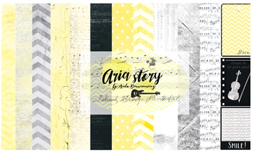 "Happymade - 13arts - Design Papers - Aria Story - 12x12"" (pakn. m/6ark)"