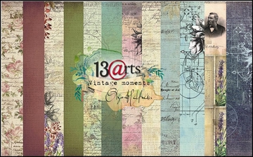 "Happymade - 13arts - Design Papers - Vintage Moments - 12x12"" (pakn. m/6ark)"