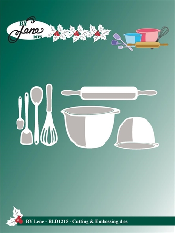 Happymade - By Lene Design - Die - Baking Equipment 1 - BLD1215