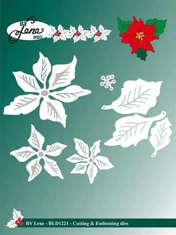 Happymade - By Lene Design - Die - Large Poinsetta - BLD1221