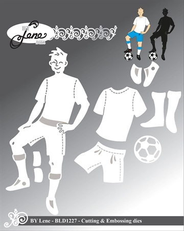 Happymade - By Lene Design - Die - Football Player - BLD1227