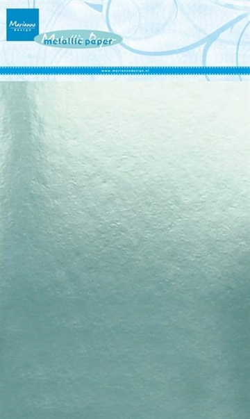 Happymade - Marianne Design paper - Metallic - Mint (5 ark A5) - CA3140