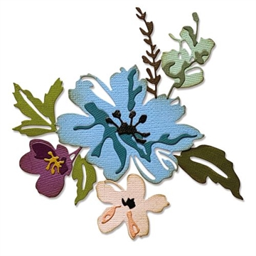 Happymade - Sizzix Thinlits Die - Brushstroke Flowers #2 (665210)