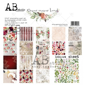 Happymade - AB Studio - Design papers - Never Never Land - 12x12""