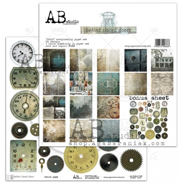Happymade - AB Studio - Design papers - Behind Closed Doors - 12x12""
