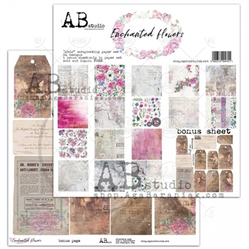 Happymade - AB Studio - Design papers - Enchanted Flowers - 12x12""