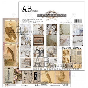 Happymade - AB Studio - Design papers - Rustical Journey - 12x12""