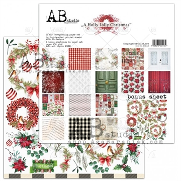 Happymade - AB Studio - Design papers - A Holly Jolly Christmas - 12x12""