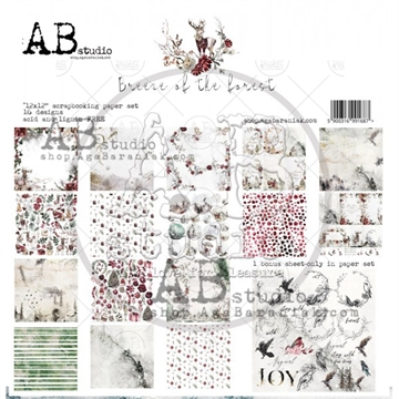 Happymade - AB Studio - Design papers - Breeze of The Forest - 12x12""