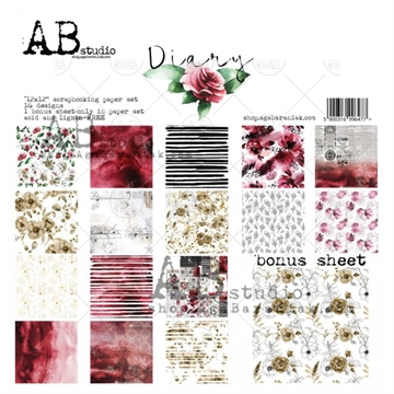 Happymade - AB Studio - Design papers - Diary - 12x12""