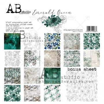 Happymade - AB Studio - Design papers - Emerald Queen - 12x12""