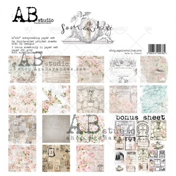 Happymade - AB Studio - Design papers - Somewhere - 12x12""