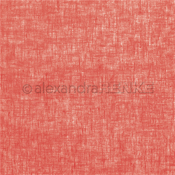 "Happymade - Alexandra Renke - 12x12"" - Linen Strawberry Red - 10.1362"