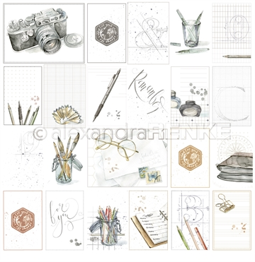 "Happymade - Alexandra Renke - 12x12"" - Card Sheet Travel for You - 10.891"