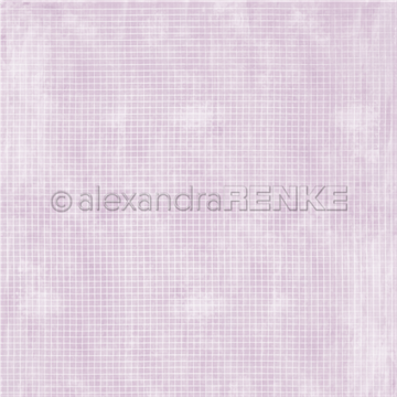 "Happymade - Alexandra Renke - 12x12"" - White Chequered on Lavender - 10.1843"