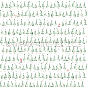 "Happymade - Alexandra Renke - 12x12"" - Christmas Tree Forest - 10.467"