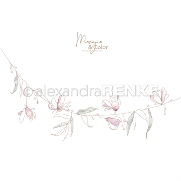 "Happymade - Alexandra Renke - 12x12"" - Magic & Color Haning Flower - 10.1162"
