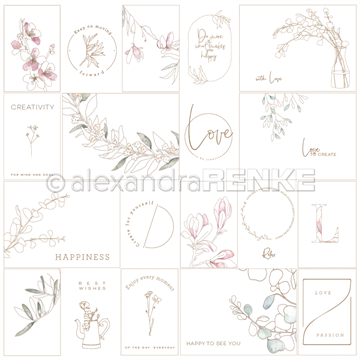 "Happymade - Alexandra Renke - 12x12"" - Card Sheet - Creativity International - 10.1169"