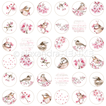 "Happymade - Alexandra Renke - 12x12"" - Cherry Blossoms Circle International - 10.877X"
