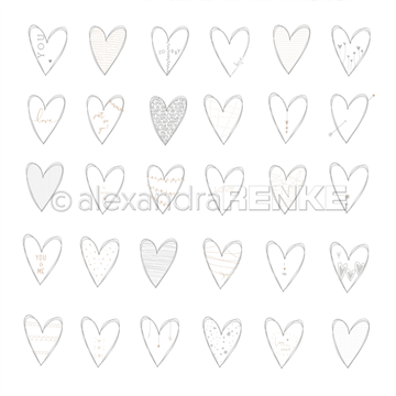 "Happymade - Alexandra Renke - 12x12"" - Hearts You - 10.1178"
