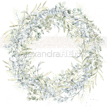 "Happymade - Alexandra Renke - 12x12"" - Card Sheet - Eucalyptus Wreath - 10.1212"