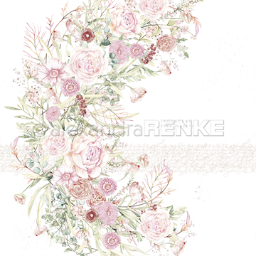 "Happymade - Alexandra Renke - 12x12"" - Card Sheet - Wreath With Roses - 10.1218"