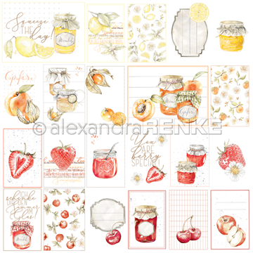 "Happymade - Alexandra Renke - 12x12"" - Card Sheet Red/Orange Jam - 10.1346"