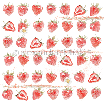 "Happymade - Alexandra Renke - 12x12"" - Strawberries - 10.1352"