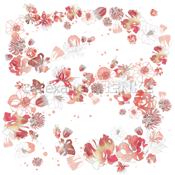 "Happymade - Alexandra Renke - 12x12"" - Music Flower Magic Ruby-Red - 10.1782"