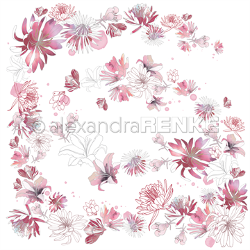"Happymade - Alexandra Renke - 12x12"" - Music Flower Magic Berry - 10.1783"