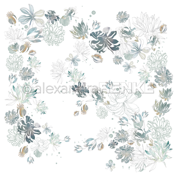 "Happymade - Alexandra Renke - 12x12"" - Music Flower Magic Ambrosia - 10.1785"