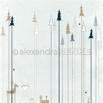 "Happymade - Alexandra Renke - 12x12"" - Fir Forest With Iceblue - 10.769"