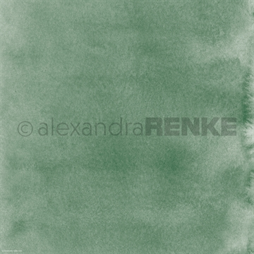 "Happymade - Alexandra Renke - 12x12"" - Mimis Watercolor - Dark Reed Green - 10.368"