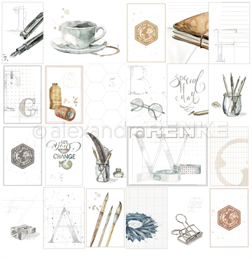 "Happymade - Alexandra Renke - 12x12"" - Card Sheet Travel Special Day - 10.888"