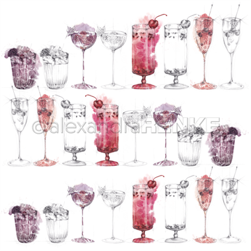 "Happymade - Alexandra Renke - 12x12"" - Berry Cocktail Sketches - 10.1790"