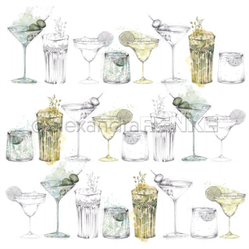 "Happymade - Alexandra Renke - 12x12"" - Green Cocktail Sketches - 10.1796"