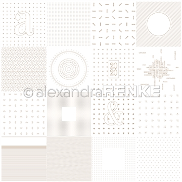 "Happymade - Alexandra Renke - 12x12"" - Planner Golden Card Sheet - 10.1684"