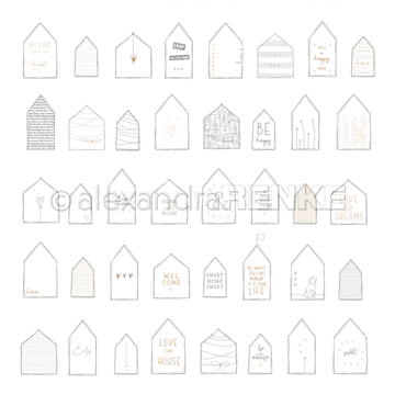 "Happymade - Alexandra Renke - 12x12"" - Houses Home - 10.1179"