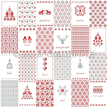 "Happymade - Alexandra Renke - 12x12"" - Card Bow Xmas Pattern International - 10.1033X"