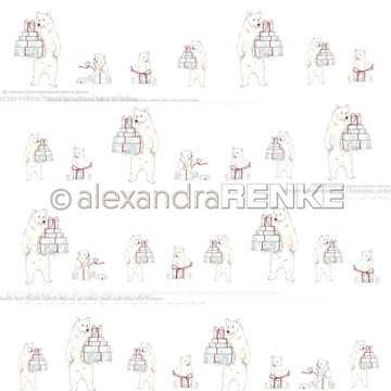 "Happymade - Alexandra Renke - 12x12"" - Bears with Gift Raport - 10.1066"
