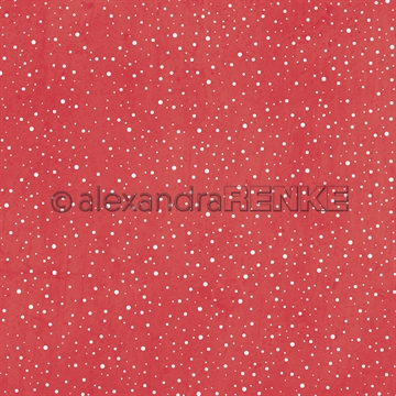"Happymade - Alexandra Renke - 12x12"" - Snow Flurry Red - 10.2001"