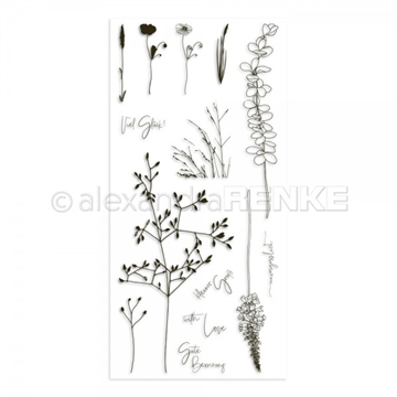 Happymade - Alexandra Renke - Clear stamp - Grasses - With Love (CS-XX-AR-FL0009)