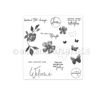 Happymade - Alexandra Renke - Clear stamp - Welcome Butterflies (ASt-AR-FL0002)